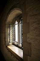 Window inside medieval building