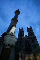 Monument and Cathedral in London, England
