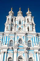 Russia, St Petersburg, the Smolny cathedral