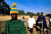 Ethiopia, near Bichena, Amhara men