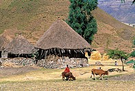 Ethiopia, Wollo region, Amhara habitations