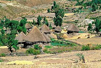 Ethiopia, Wollo region, Amhara village