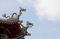 Rooftop of Chinese building