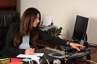 Female Executive Answering Phone