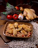 Chicken with white beans or mogettes _ Poitou Charentes _ France
