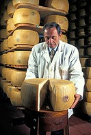 Cycle of maturation of the parmigiano reggiano in a cellar