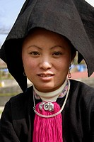 Black Dzao woman, Sa Pa, Vietnam