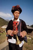 Red Dzao man in Ta Phin village near Sa Pa, Vietnam