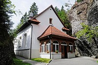 Felsenkapelle Chapel, Cog Railway Station Rigi Kaltbad, Mount Rigi, Vitznau, Canton of Lucerne, Switzerland, Europe