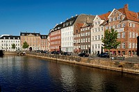 Historic houses on the Nybrogade, Copenhagen, Denmark, Scandinavia, Europe