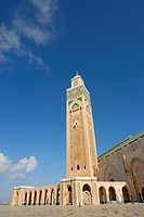 The Hassan II Mosque in Casablanca, Morocco, Africa
