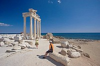 Temple of Apolo, ruins of Side, Mediterranean coast, Turkey