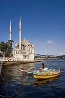 Ortakoy Mosque and Phosphorus Bridge, Istanbul, Turkey