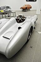 Racing car, W 196 R Stromlinie, Streamlined, 1954, Mercedes Benz exhibition, Pinakothek der Moderne, Munich, Bavaria, Germany, Europe