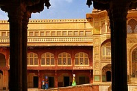 India. Rajasthan. Jaipur. Amber Fort and Palace.
