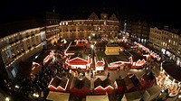 Christmas market at the townhall, Duesseldorf, North Rhine-Westphalia, Germany, Europe