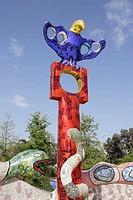´Queen Califia´s Magical Circle´ sculpture by Niki de St. Phalle in Kit Carson Park, Escondido, California, USA