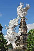 Statues from Balinese mythology in Gianyar, Bali, Indonesia