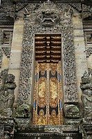 Main gate, temple near Bangli, Bali, Indonesia