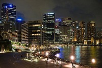 Sydneys skyline at night