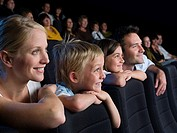 A family watching a movie (thumbnail)