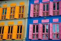 Colorful building in Clarke Quay, Singapore