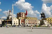 Skanderbeg Square in Tirana, Albania, Europe