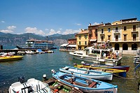 Harbour, Malcesine, Lake Garda, Venetia, Italy, Europe