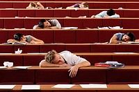 Students sleeping in lecture theatre (thumbnail)