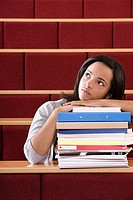 Female student in lecture theatre