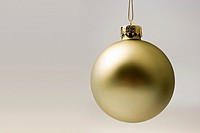 Golden chrtistmas bauble