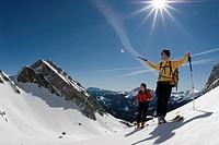 Ski tour to the Stadelfeld Alpine Pasture, Gesaeuse National Park, Styria, Upper Austria, Europe