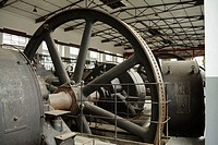 Compressors room in former Hansa coking plant (went into operation in 1928), now a technical museum, Dortmund, Germany