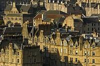 Edinburgh ol town from Calton Hill  Edinburgh  Lothian Region  Scotland  U K