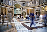 The Pantheon, the interior, Rome, Latium, Italy, Europe