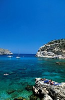 Anthony Quinn Bay near Faliraki, Rhodes, Dodecanese, Greece, Europe