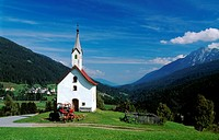Chapel, Lesachtal Valley, Carinthia, Austria, Europe