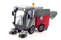 Toy street sweeper