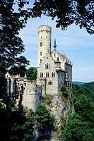 Liechtenstein Castle, Swabian Alb, Baden-Wuerttemberg, Germany, Europe