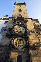 Astronomical clock, Old Town Hall, Prague, Czech Republic, Europe