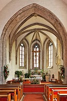 Interior of the church in Kaumberg, Triesingtal Triesing Valley, Lower Austria, Austria, Europe