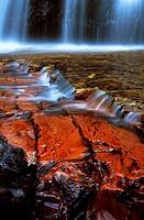Jasper riverbed, Quebrada de Jaspe, Bolívar, Gran Sabana, Venezuela, South America
