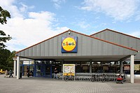 Lidl store - German food trade discounter company