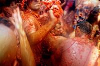 ´Tomatina´ festival, Bunyol. Valencia province, Comunidad Valenciana, Spain