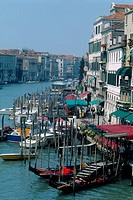 Italy _ Venice _ city life on the Grand Canal _ left bank