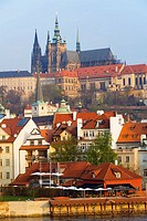 View of Mala Strana and Prague Castle, Prague, Czech Republic