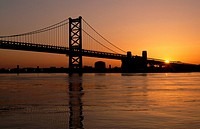 Benjamin Franklin bridge, Philadelphia, Pennsylvania, USA
