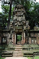 Ruins in the ancient city Angkor Thom, Cambodia