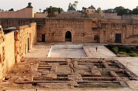 Ruins and foundations of Palais El Badi, Marrakech, Morocco, Africa