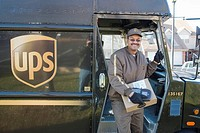UPS delivery Driver Joe Wallace delivers packages
